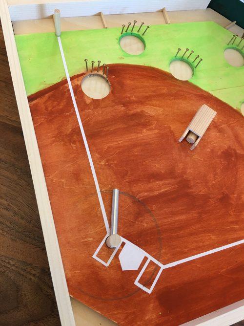 工作キットで立体迷路やコリントゲーム、野球ゲー …